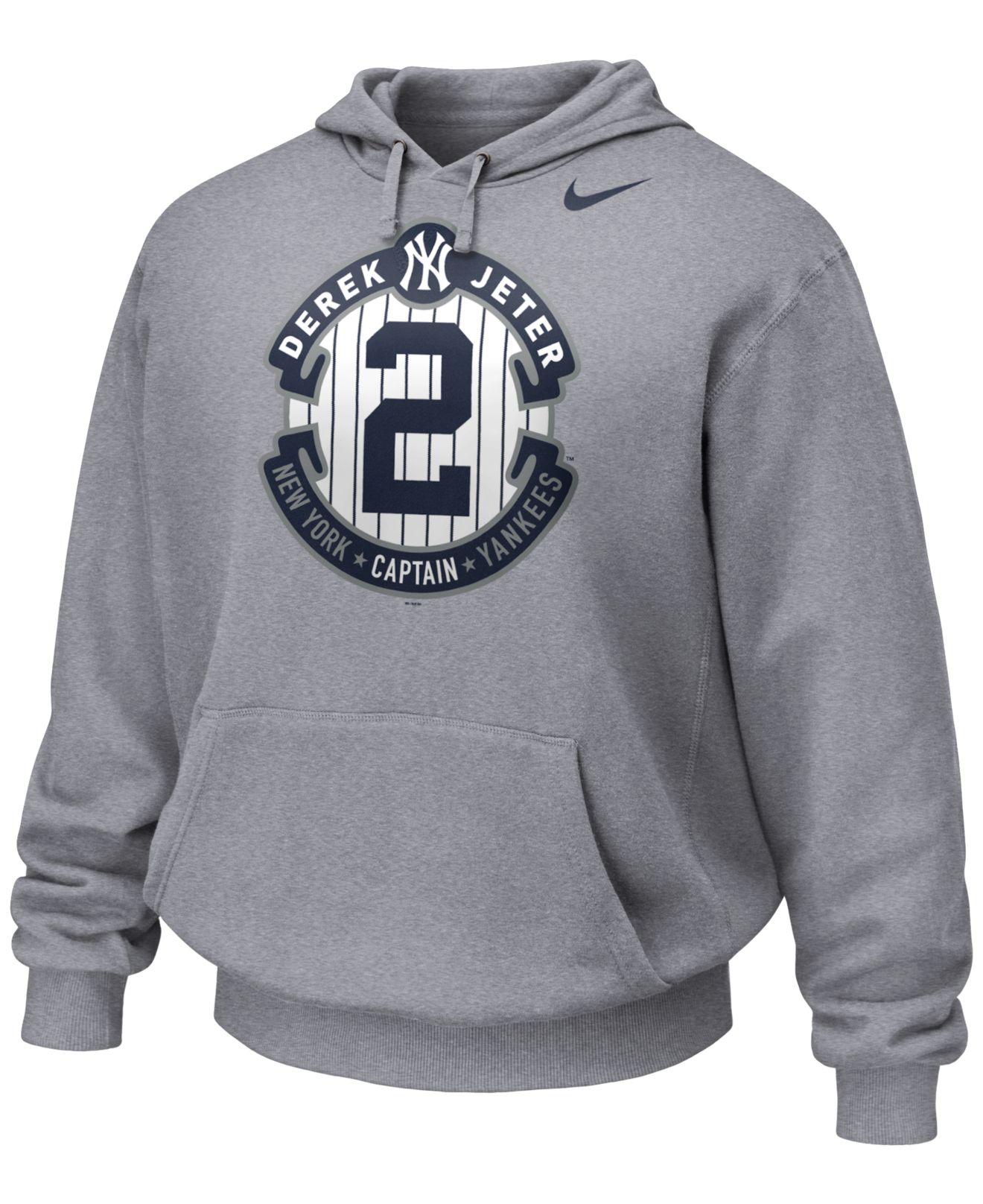 3cb552c5458 Nike Men'S Derek Jeter Commemorative Therma-Fit Hoodie in Gray for ...