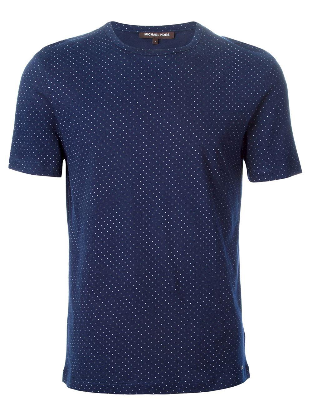 michael kors polka dot t shirt in blue for men lyst. Black Bedroom Furniture Sets. Home Design Ideas
