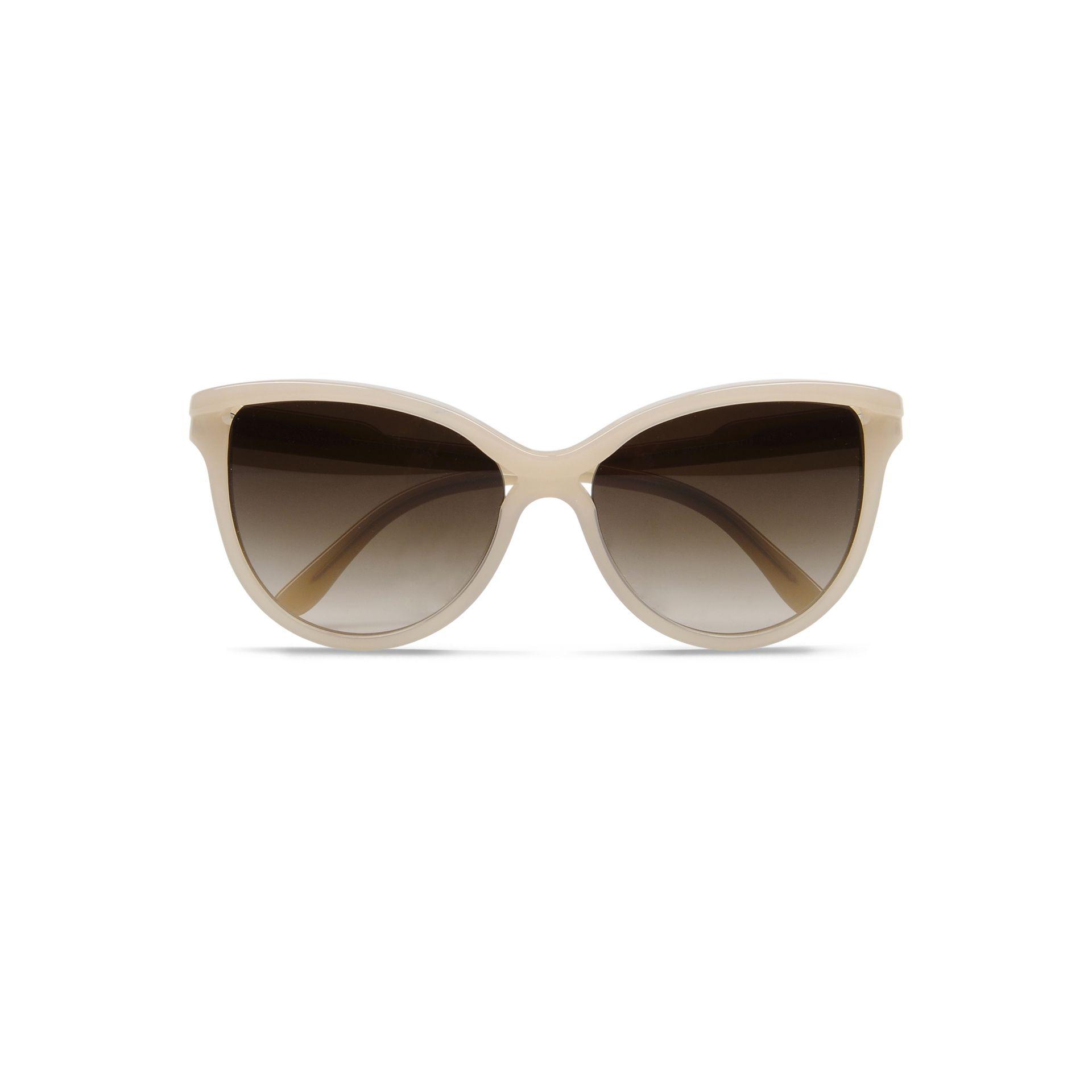 Stella mccartney Cat Eye Sunglasses in Gray (Nude) | Lyst