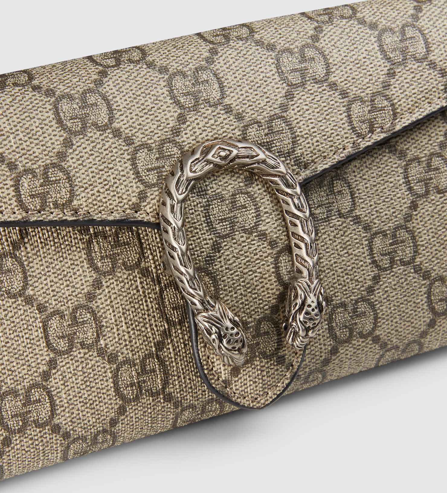 194980646be Gucci Dionysus Gg Supreme Chain Wallet in Natural - Lyst