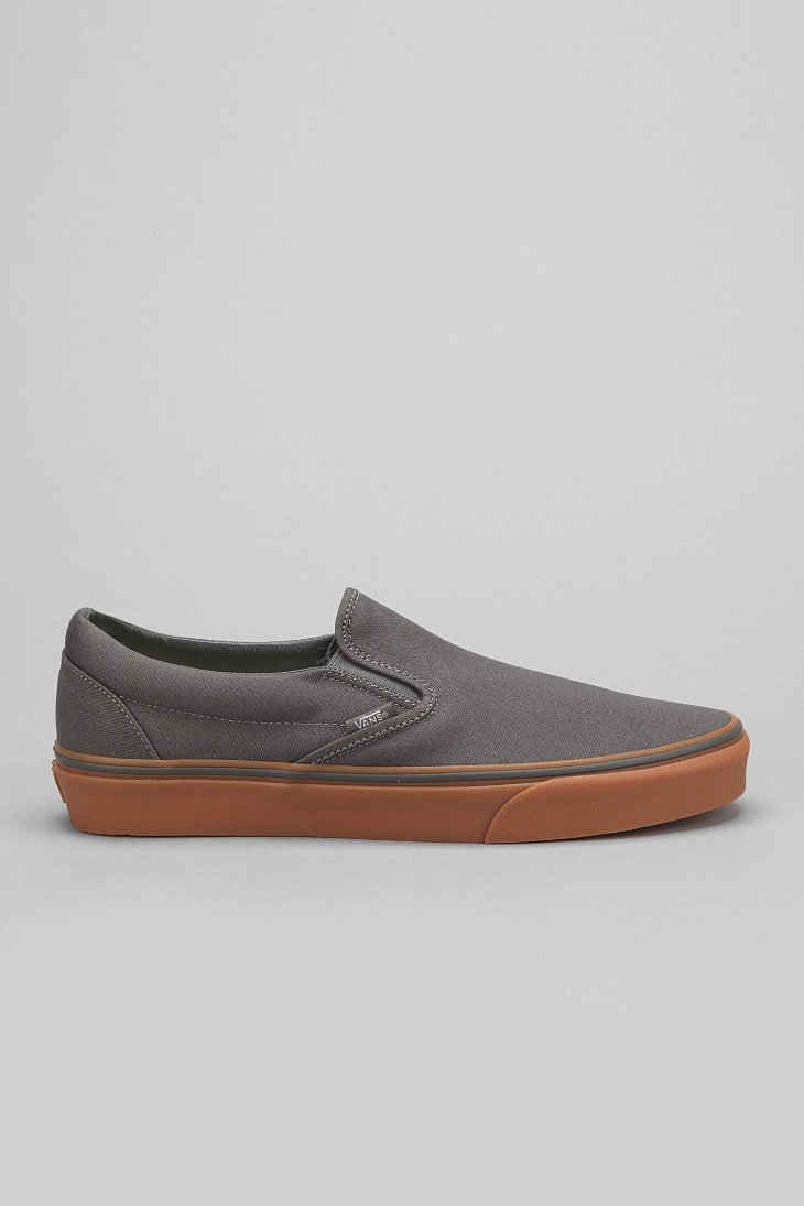 Lyst - Vans Classic Gum-Sole Slip-On Sneaker in Gray for Men 1fabec7f0