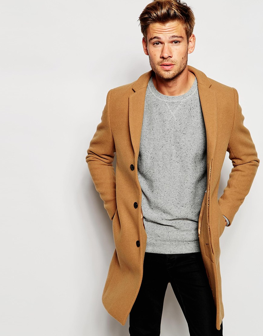 Selected Cashmere Overcoat In Brown For Men Lyst