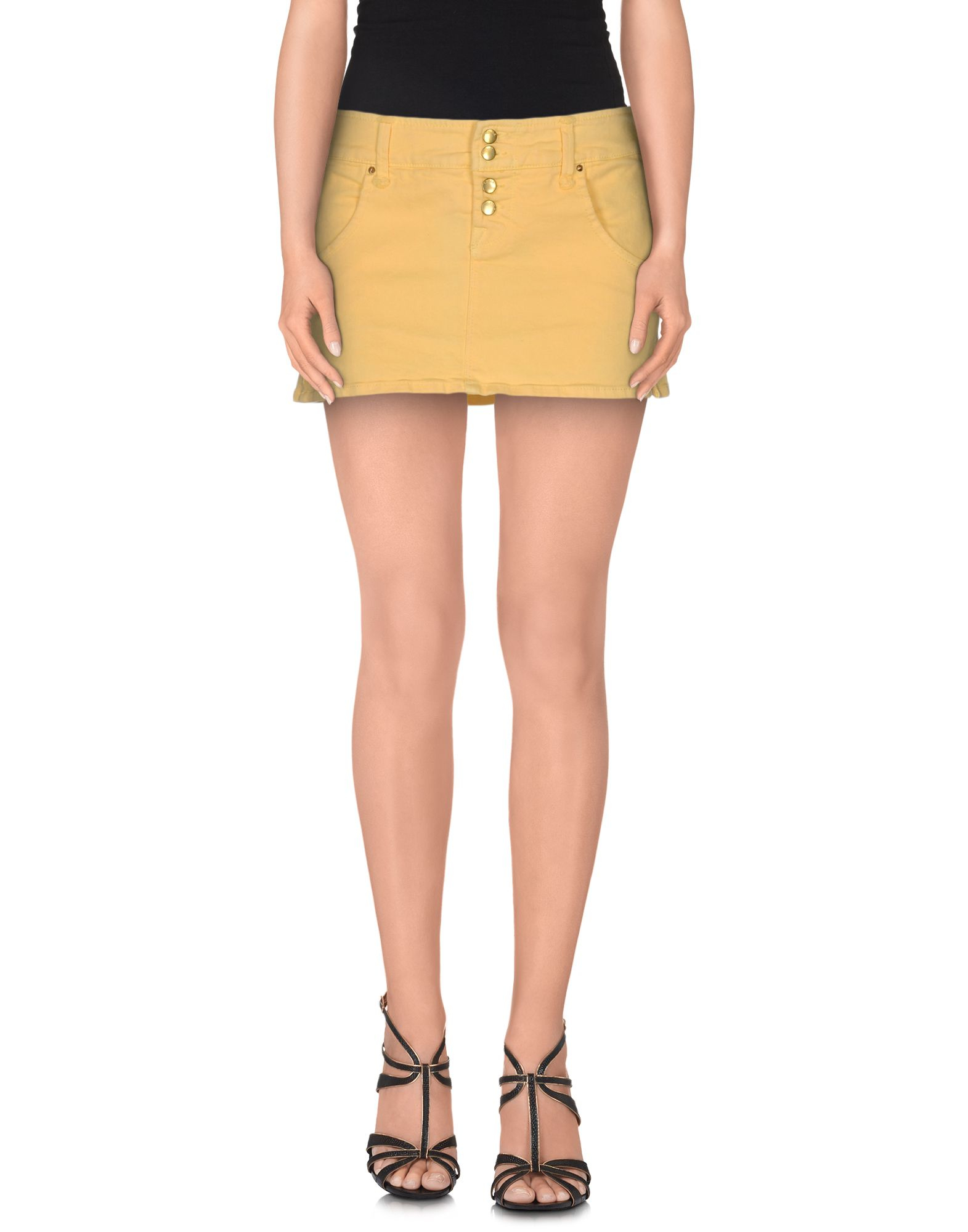 cycle denim skirt in multicolor light yellow save 53