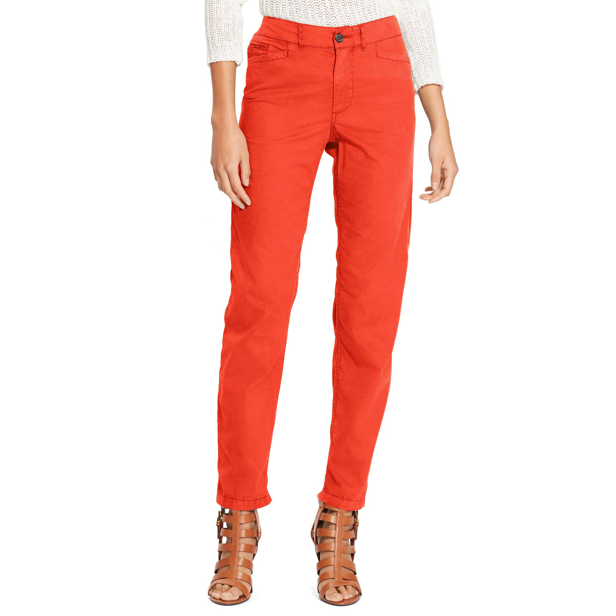 Rolf S Nyc Ralph Lauren Straight Leg Chino Pant In Orange Lyst