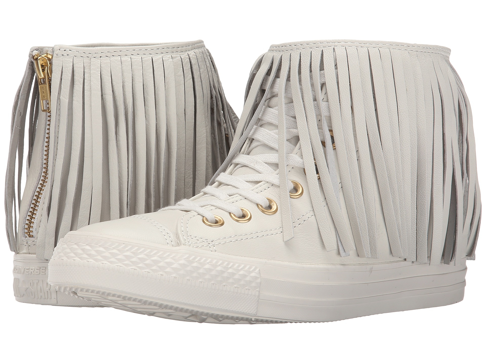d6970fde9273 ... low pure platinum mens lace up get lyst converse chuck taylor all star  premium leather fringe in white 1050e 74df5 ...