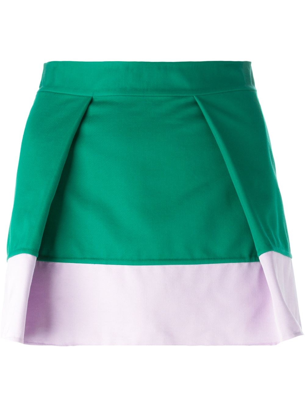 dsquared 178 a line skirt in green lyst