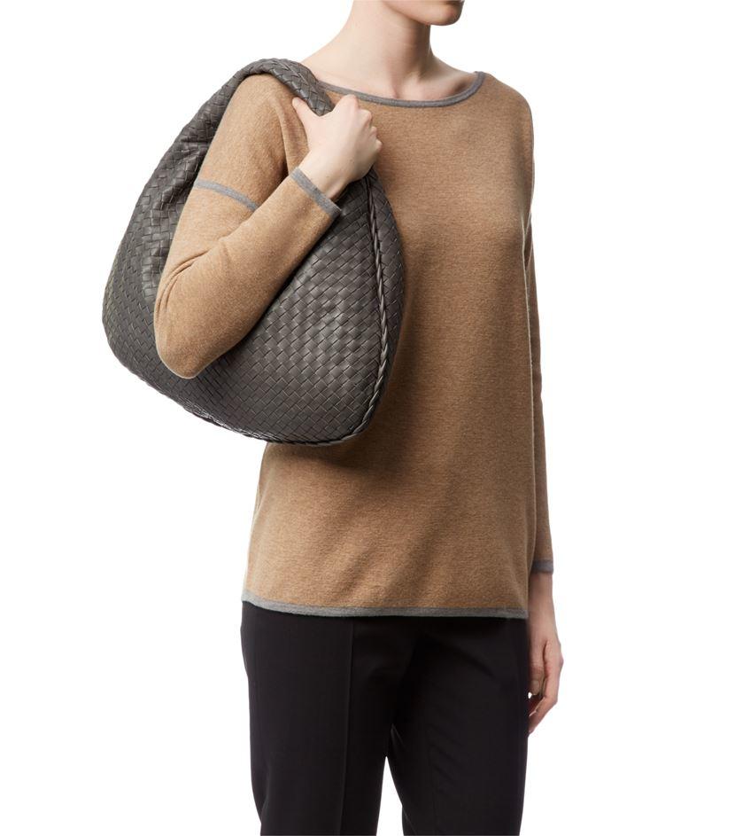 Bottega veneta Medium Intrecciato Veneta Hobo Bag in Brown ...