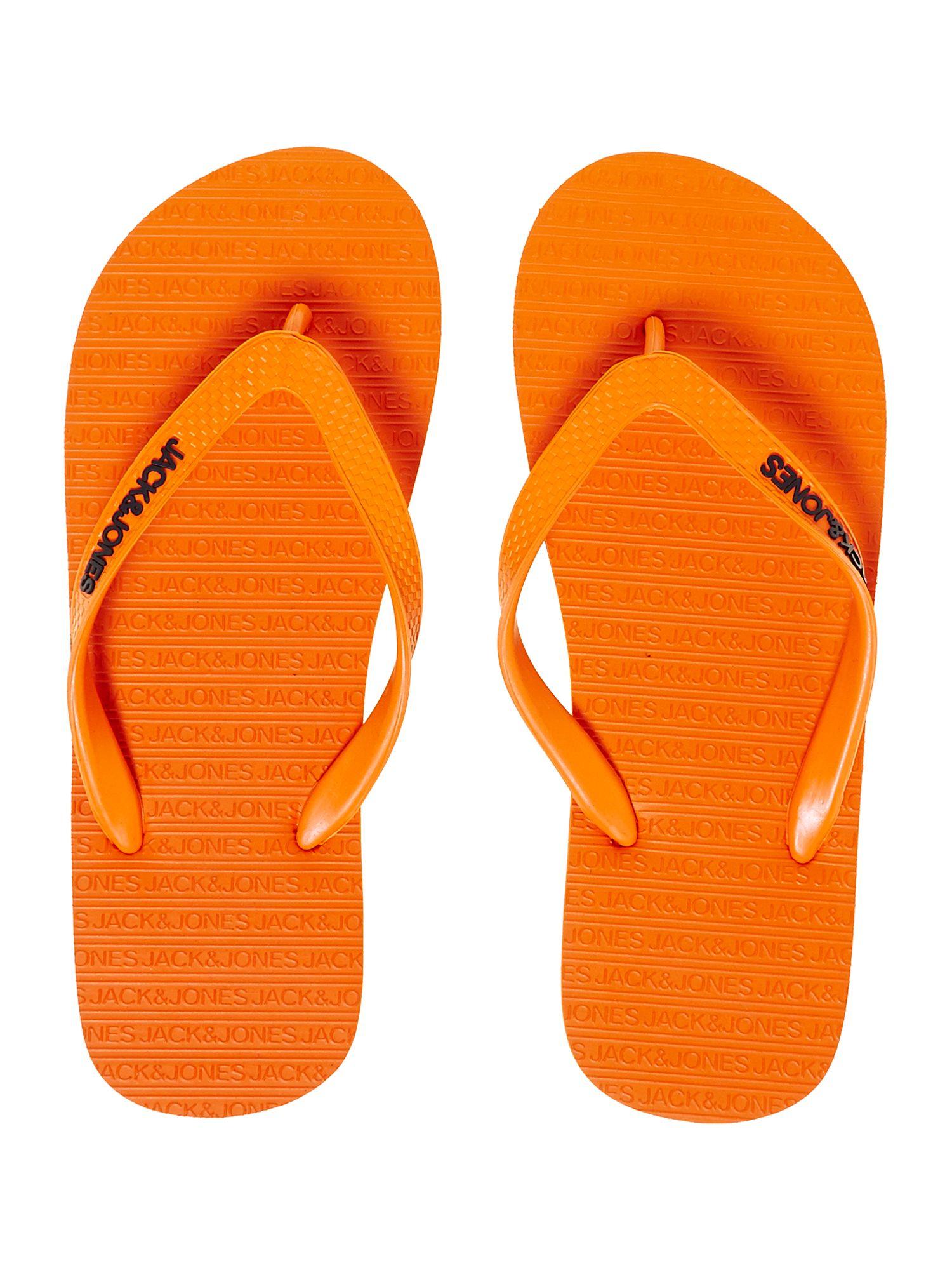 Jack amp Jones Classic Flip Flops In Orange For Men Lyst