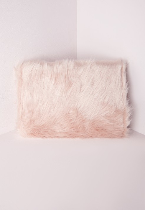 adf58c2164 Lyst - Missguided Faux Fur Clutch Pink in Pink