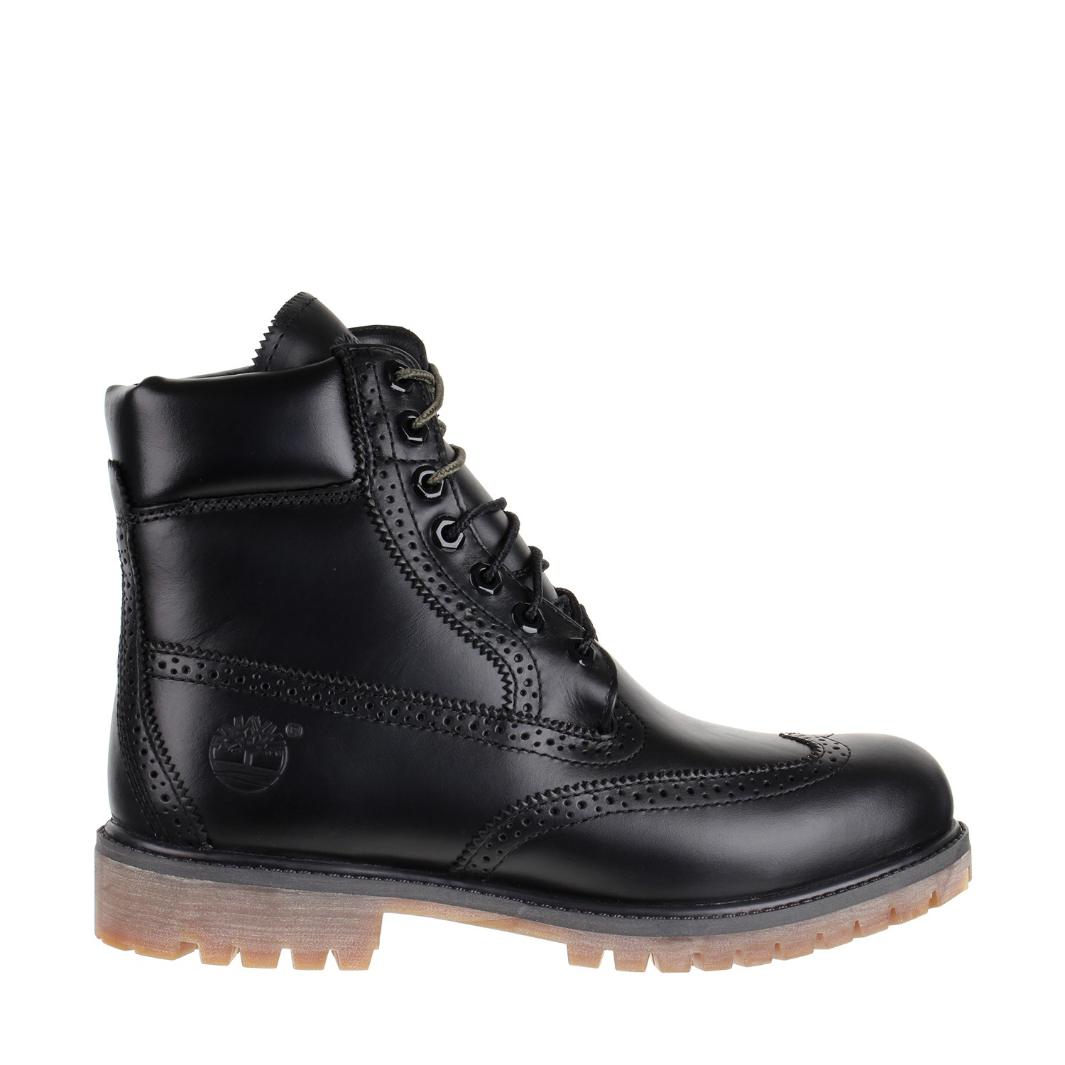 Timberland Brogue 6-inch Premium Boot in Black for Men | Lyst