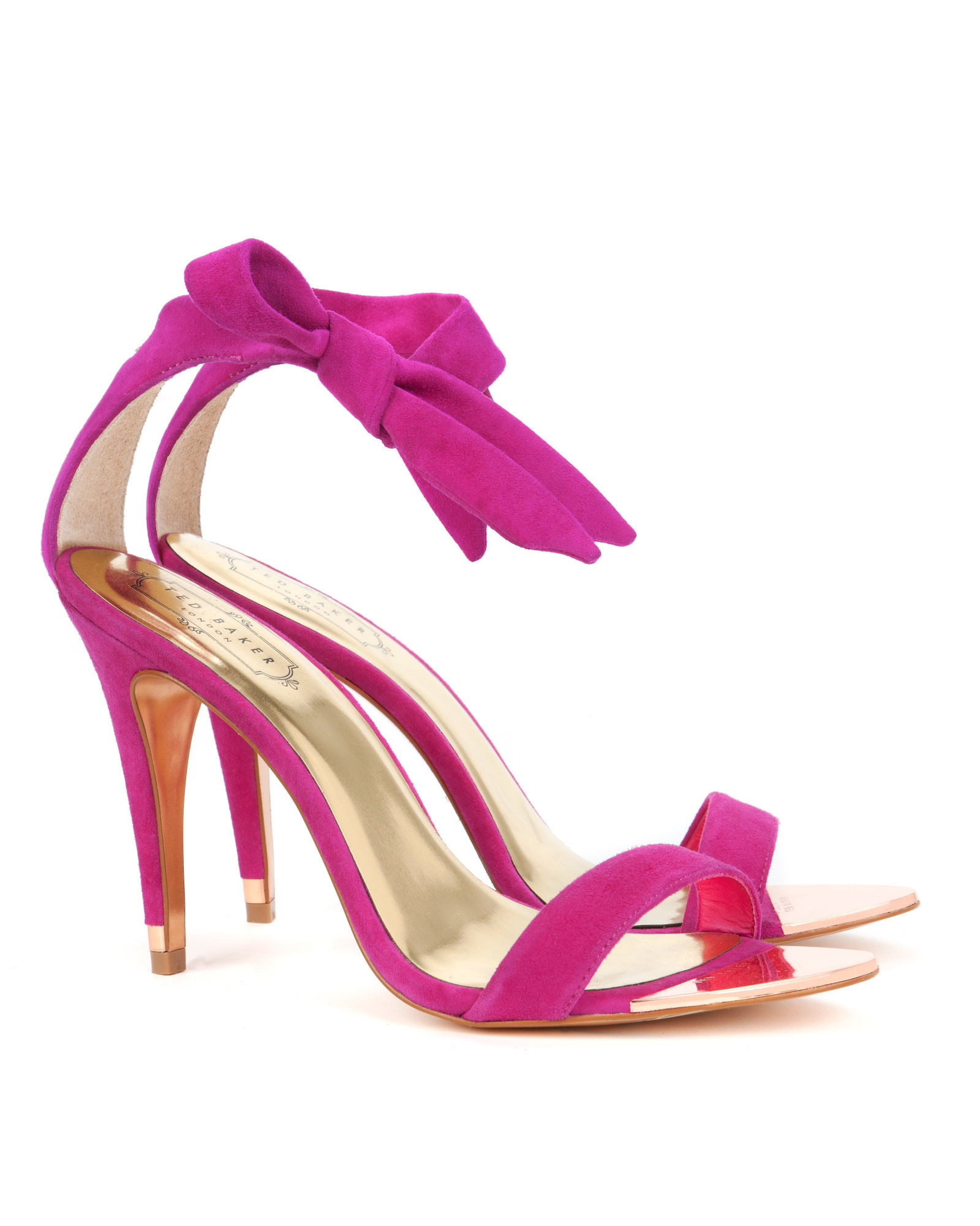 a01cc0ac572f Lyst - Ted Baker Ankle Tie Heels in Pink