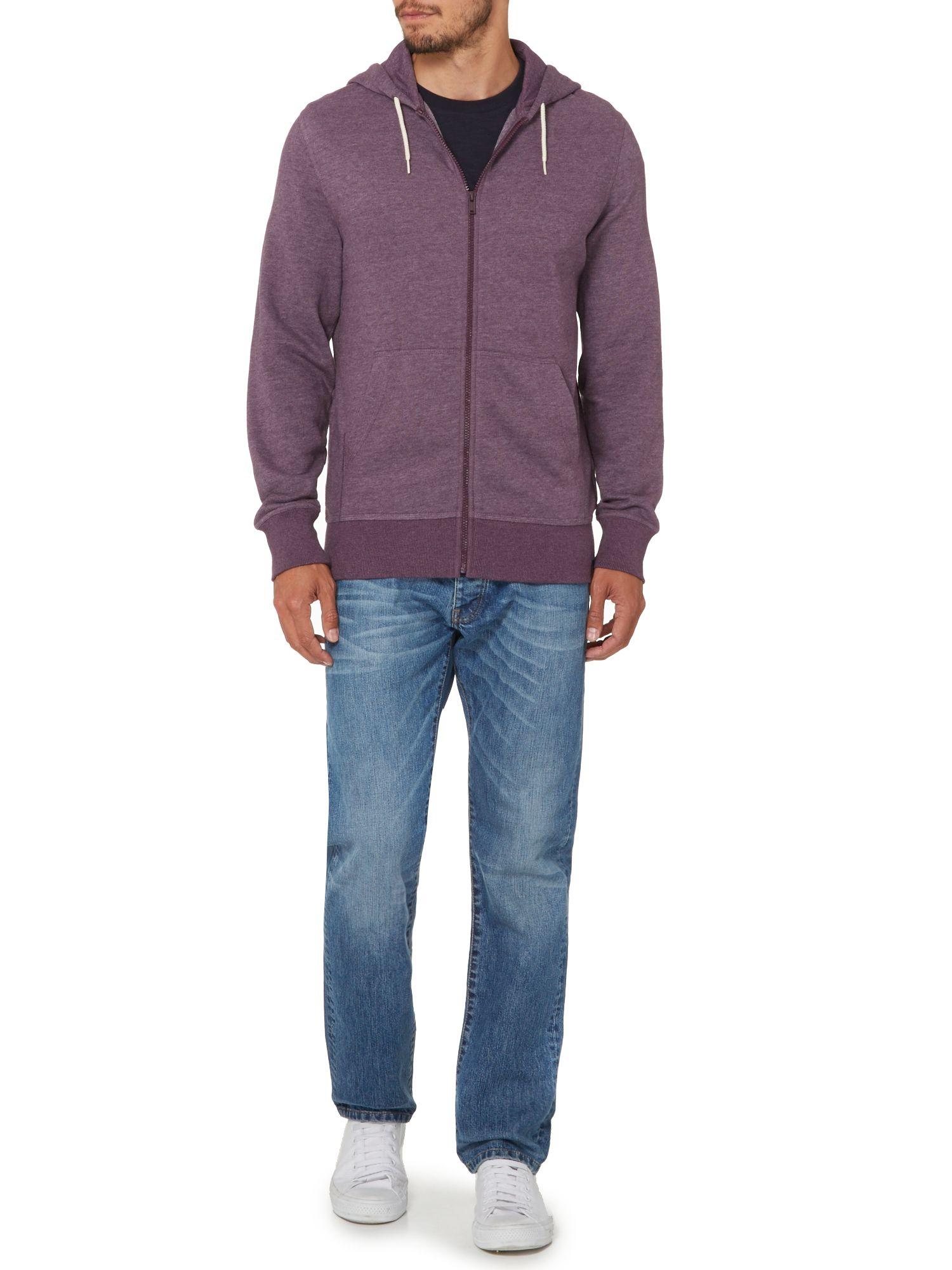 Criminal Morgan Zip Through Hoody In Purple For Men Lyst