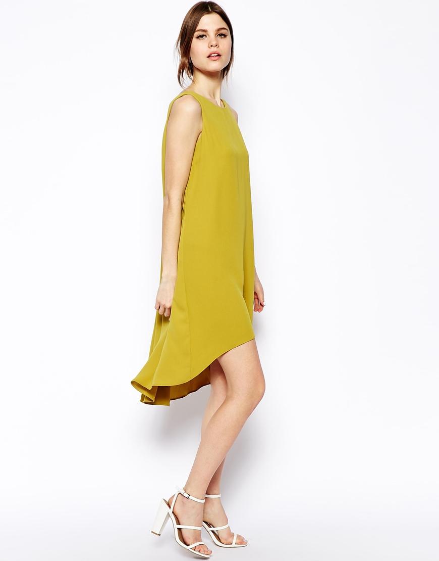 v back long dress hem