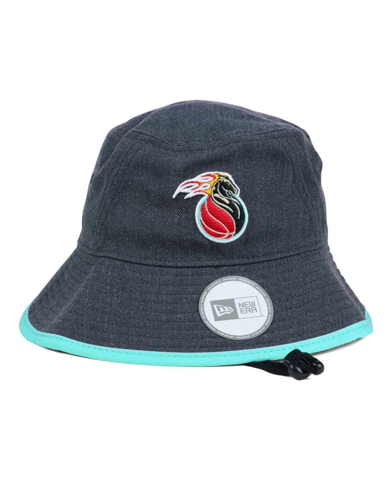 56212cb3 ... shop lyst ktz detroit pistons dark heather tipped bucket hat in gray  92242 72945