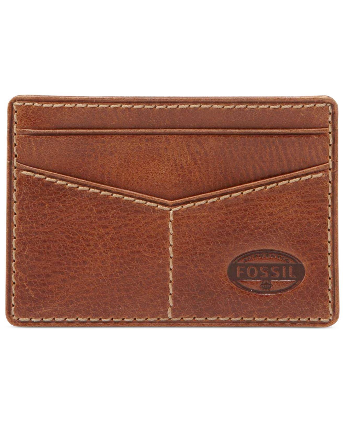 Lyst - Fossil Bradley Slim Card Case Wallet in Brown for Men