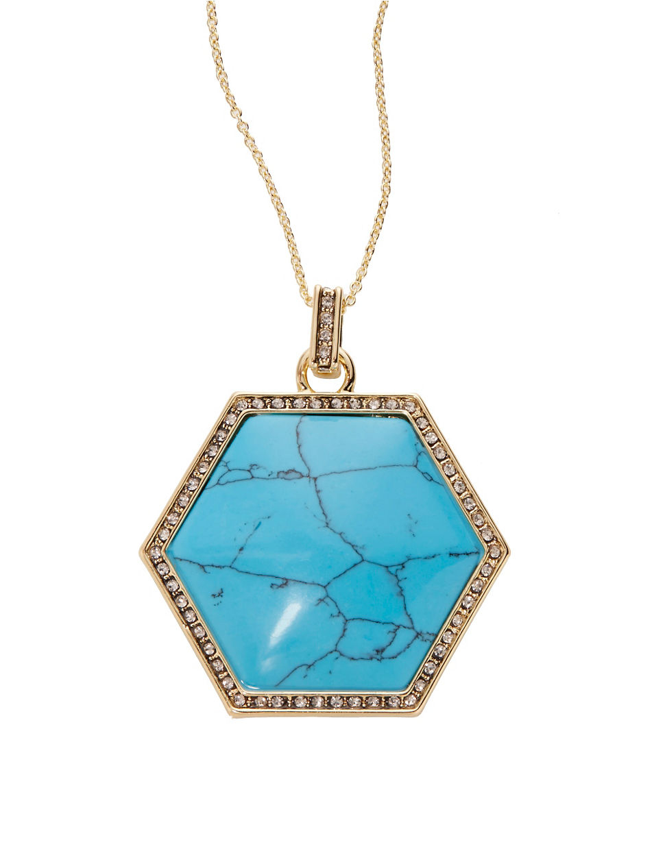 house of harlow 1960 hexes pendant necklace 28 in in