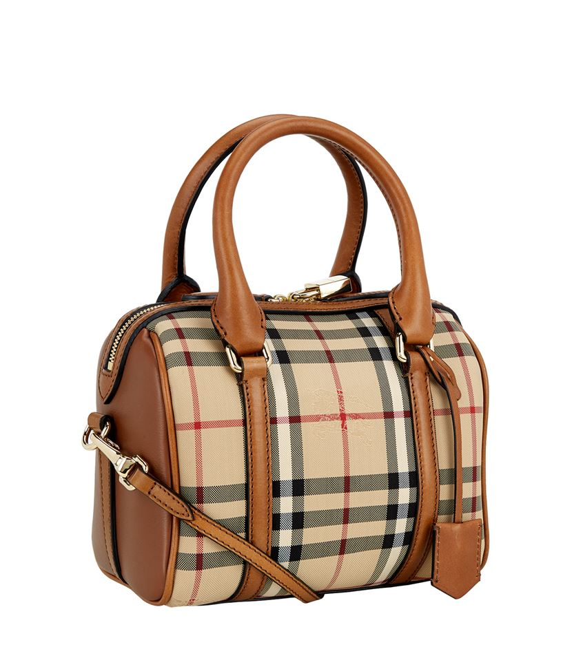 9b0f16ff2b6a Burberry Small House Check Alchester Bag in Brown - Lyst