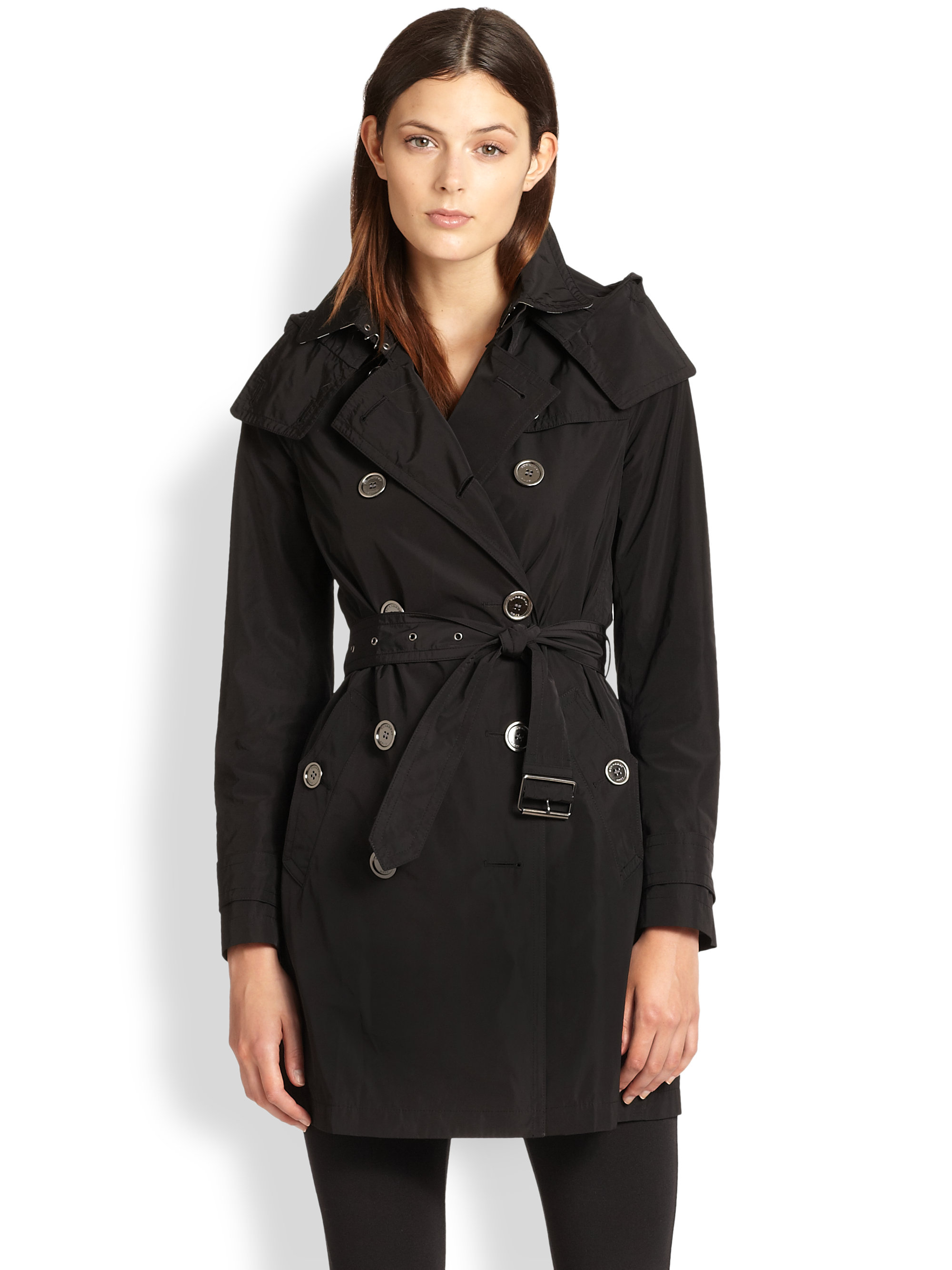Burberry Balmoral Trench Coat In Black Lyst