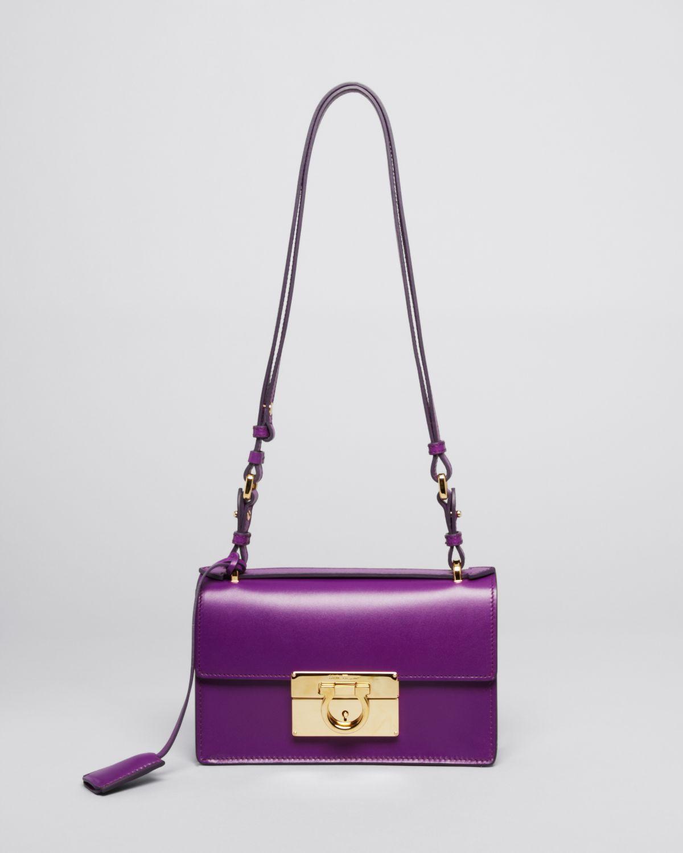 b7f4927139 Lyst - Ferragamo Shoulder Bag Aileen Mini in Purple