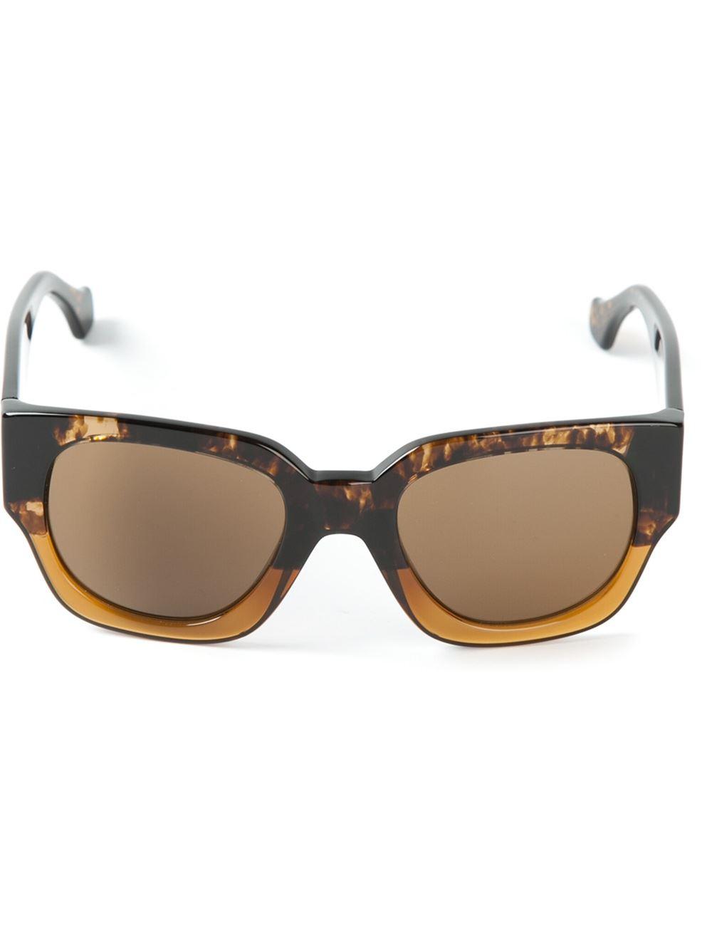 328a5ab073b Lyst - Balenciaga Square Frame Sunglasses in Brown for Men