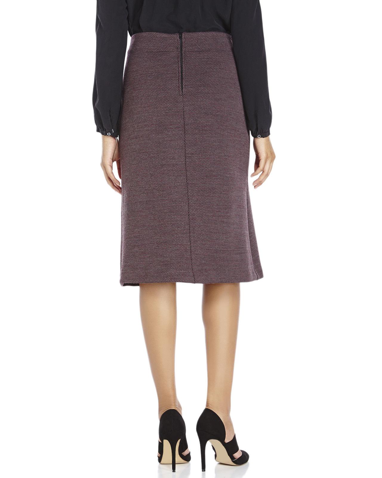 Century 21 ottod 39 ame woven a line skirt in purple lyst for Century 21 dress shirts