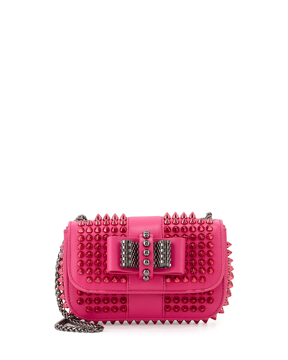 b0645cca2c5 Christian Louboutin Sweet Charity Small Spiked Crossbody Bag in Pink ...
