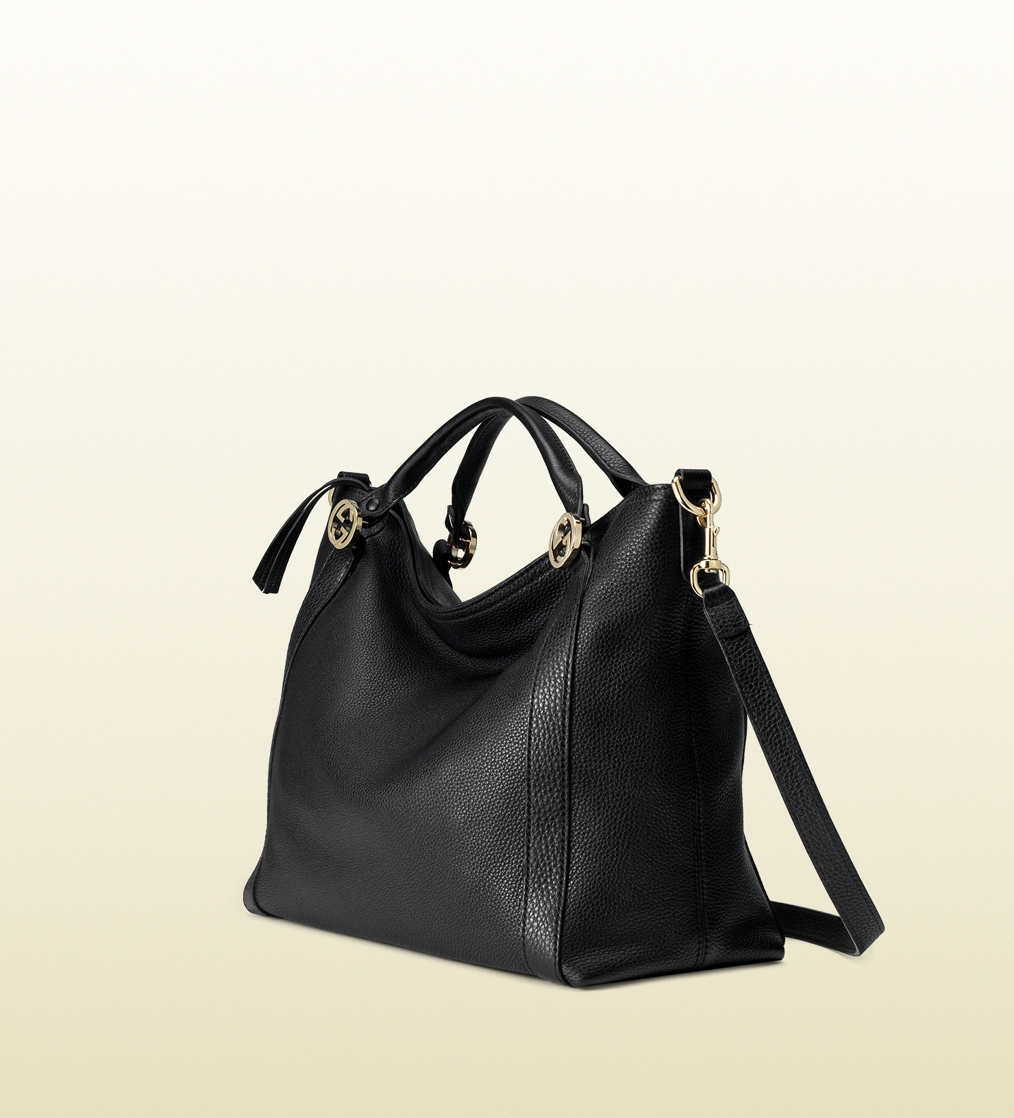 Lyst Gucci Miss Gg Leather Top Handle Bag In Black