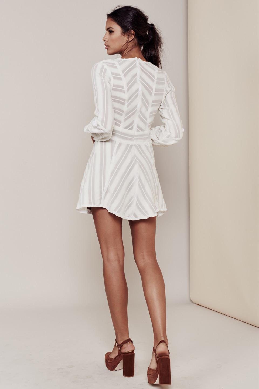For Love Amp Lemons Alessandra Dress In White Lyst