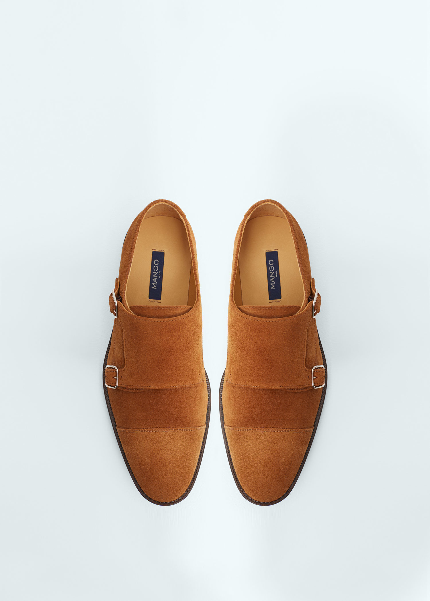 b7a96b0aea60 Lyst - Mango Leather Monk-strap Shoes in Brown for Men
