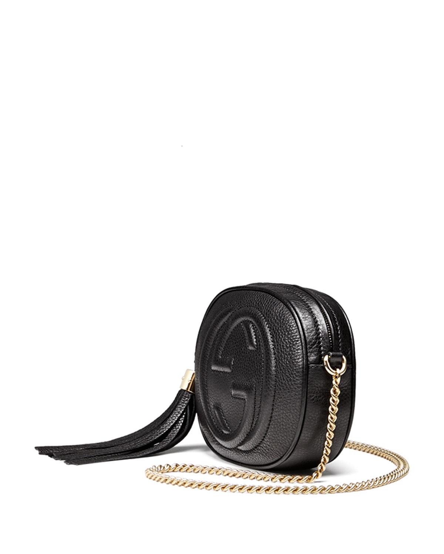 e90adb8f7 Gucci Soho Leather Mini Chain Bag in Black - Lyst