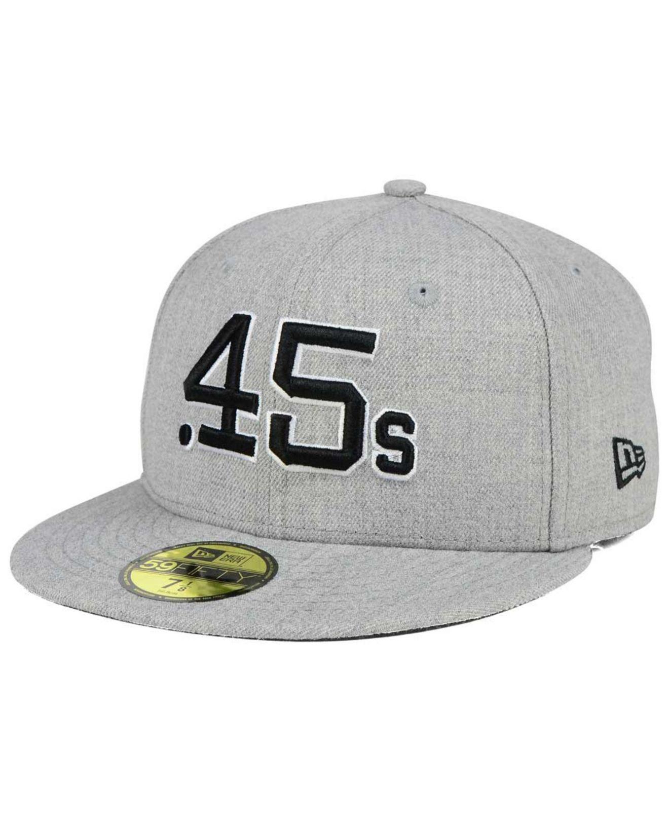 ee8b2ec3e49 ... low price lyst ktz houston colt .45s heather black white 59fifty cap in  gray 05724