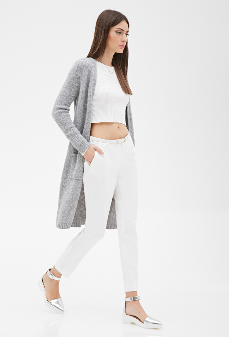 Longline Grey Cardigan - English Sweater Vest