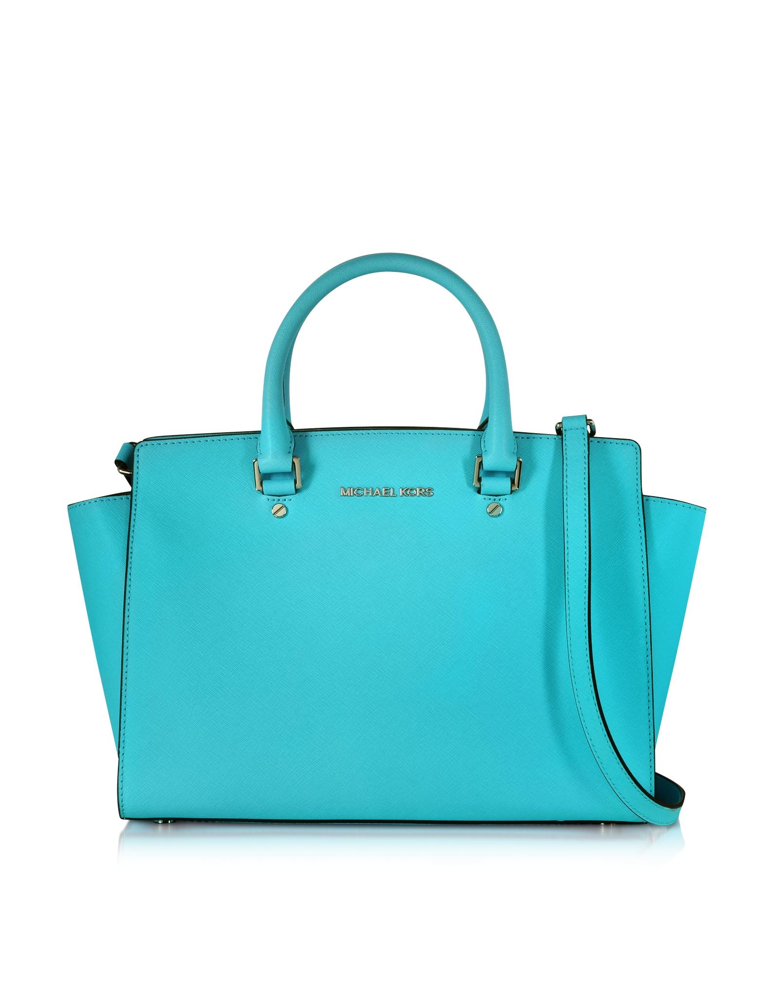 Michael Kors Sutton Medium Satchel Aquamarine Bag Gallery Womens By Selma