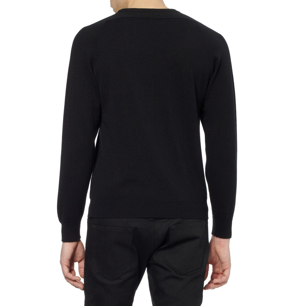 Saint Black Laurent fit Cashmere Sweater Slim vfSCqw