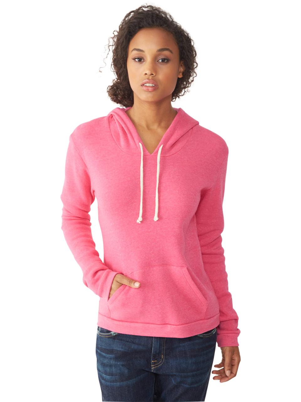 alternative apparel athletics eco fleece hoodie in pink lyst