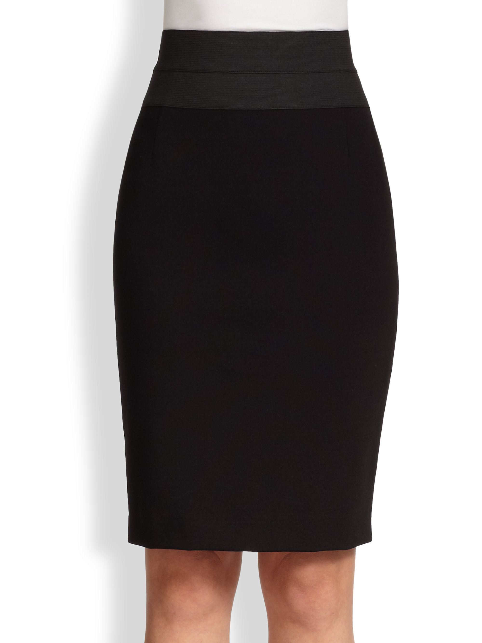 akris punto essentials high waist pencil skirt in black lyst