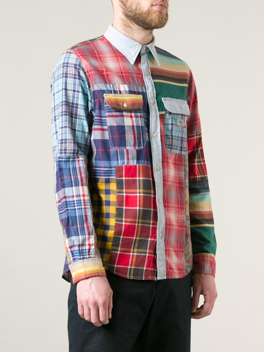 Lyst Ralph Lauren Patchwork Shirt For Men
