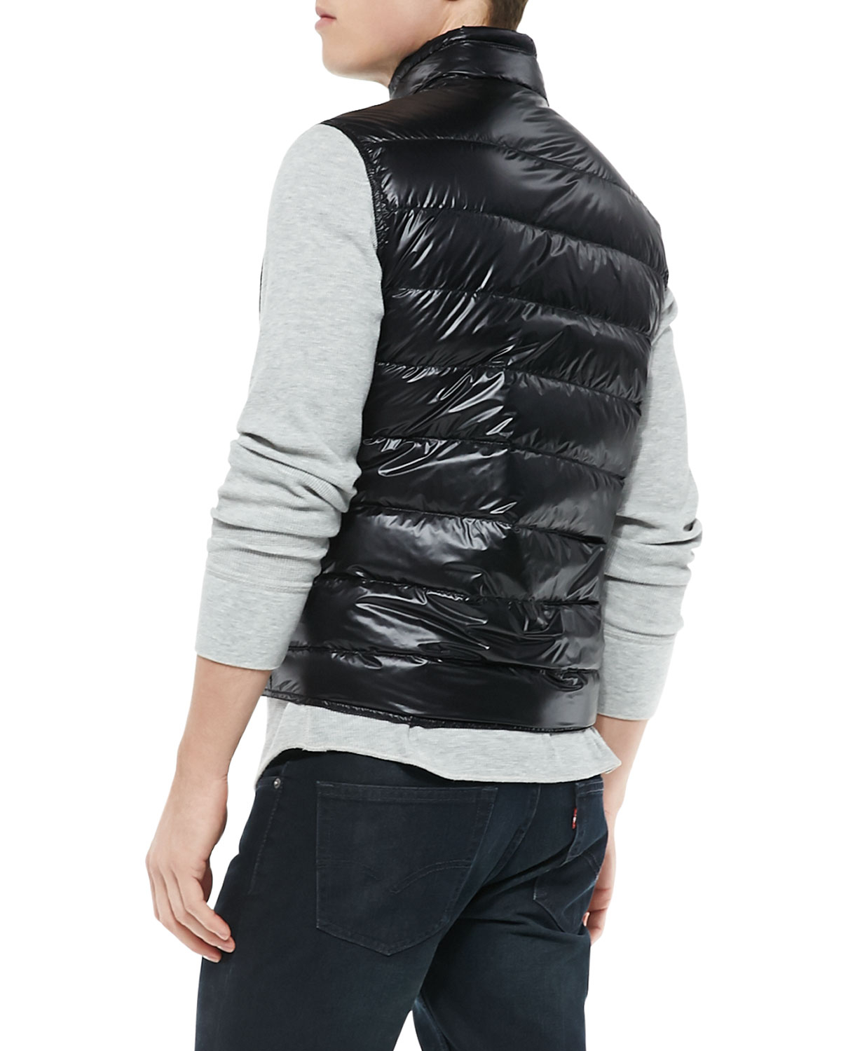 moncler quilted puffer vest