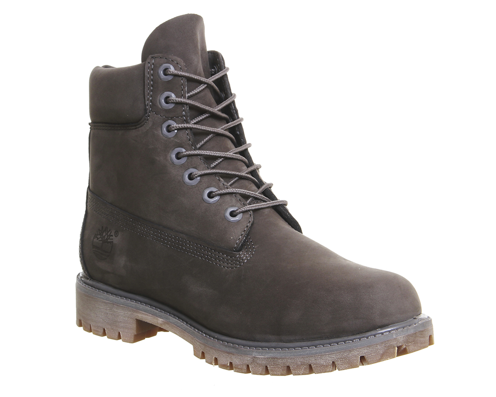 timberland 6 in buck boots in gray for men grey lyst. Black Bedroom Furniture Sets. Home Design Ideas