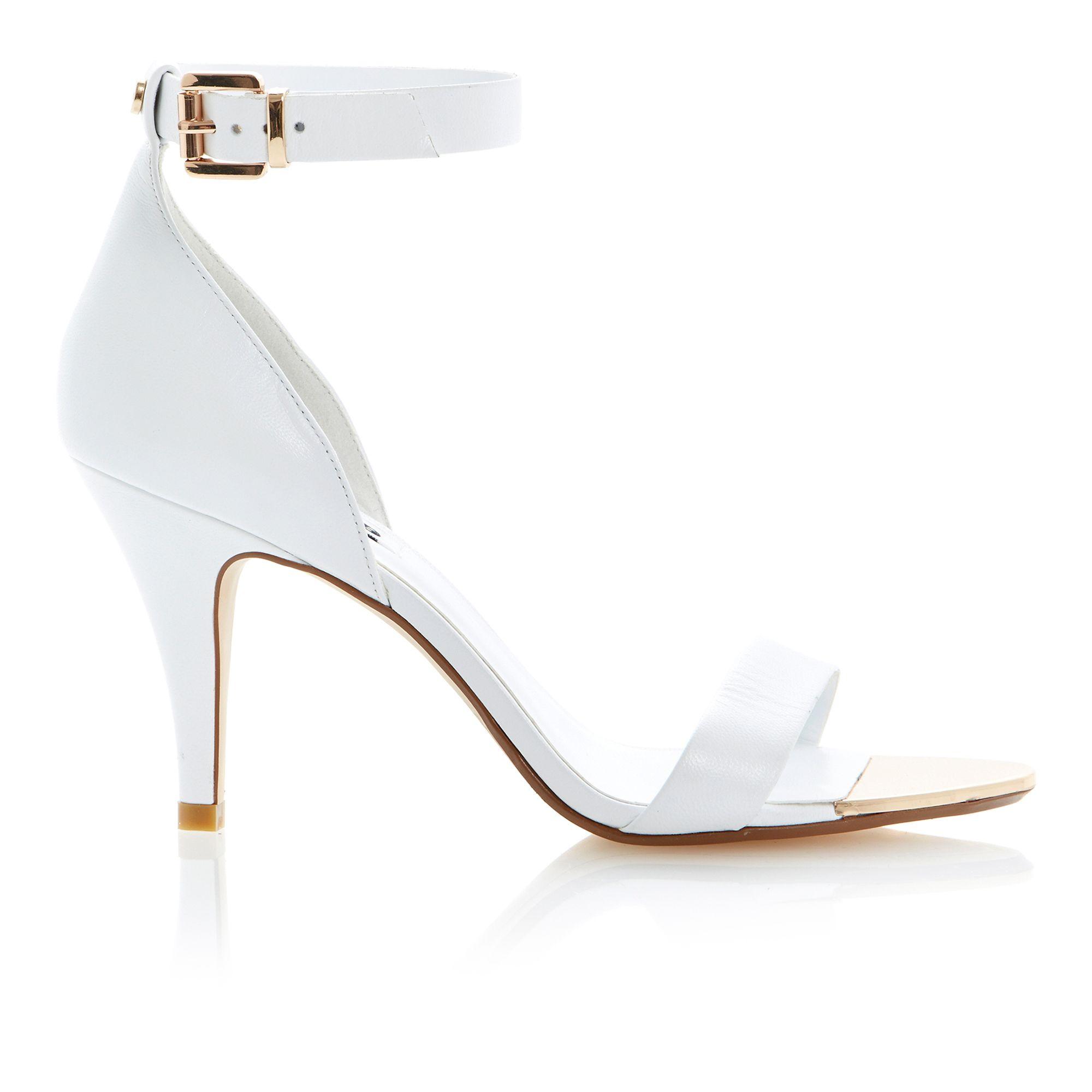 White Strap Sandal Heels