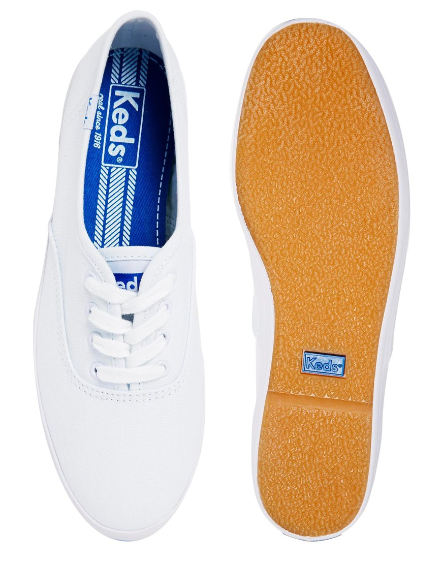 ff3a5c40278ed Lyst - Keds Champion Canvas White Plimsoll Trainers in White