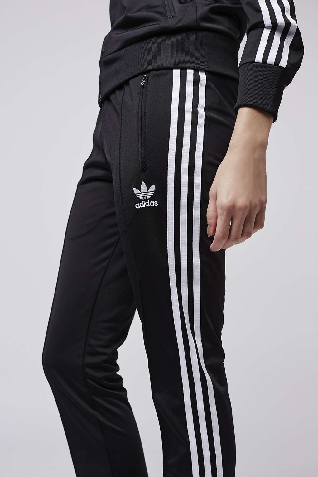 94af1c36 TOPSHOP Firebird Track Pant Trousers By Adidas Originals in Black - Lyst