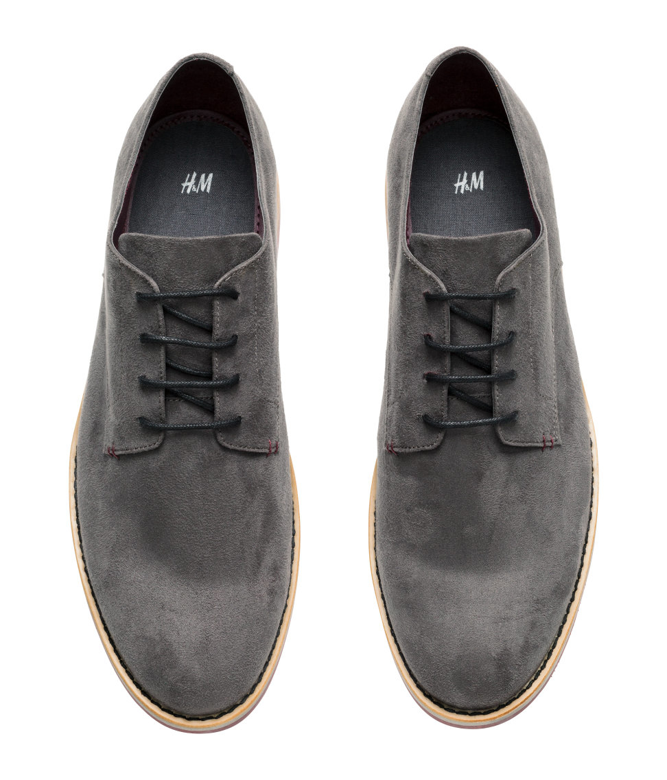 h m derby shoes in gray for lyst