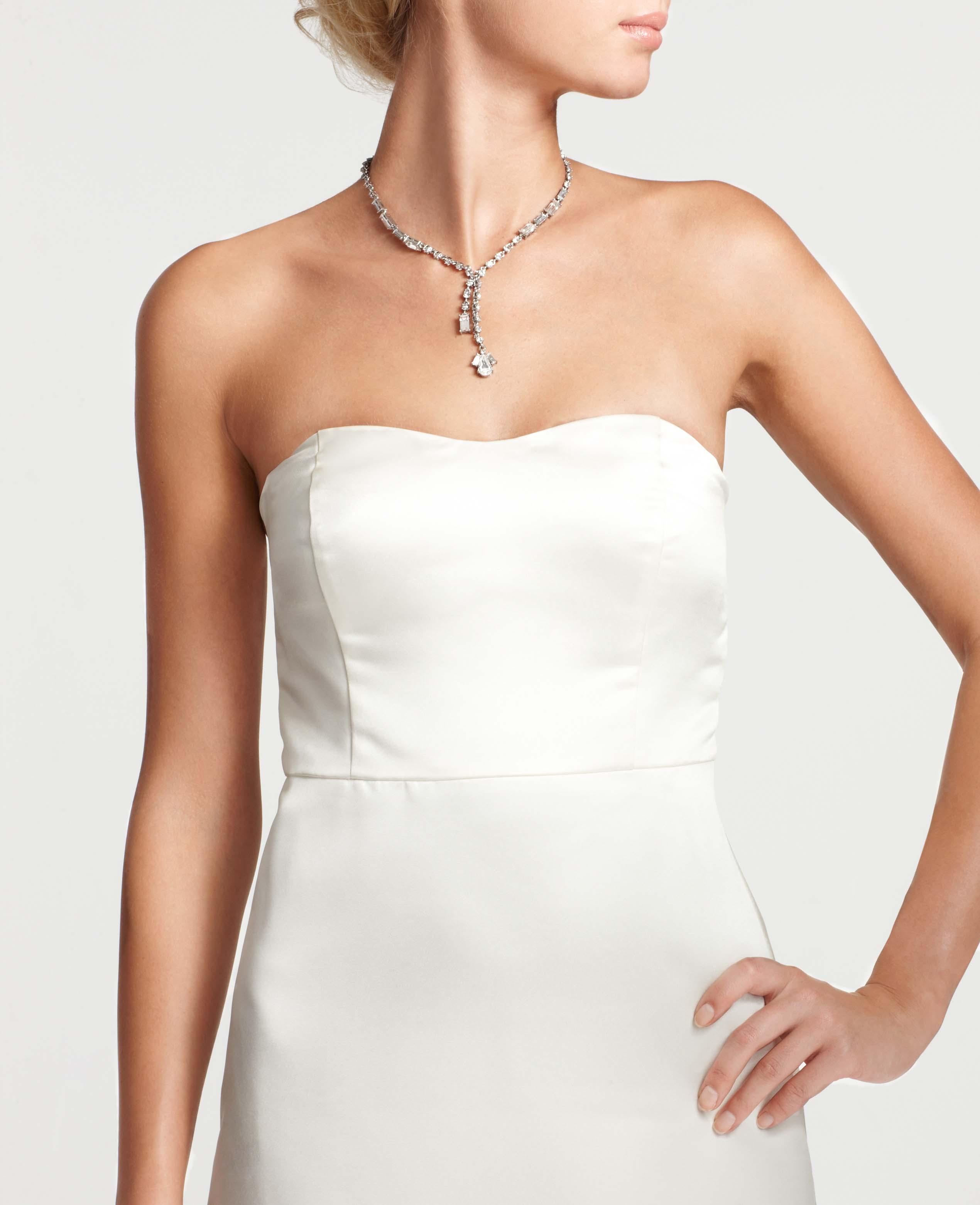 Ann taylor Layla Duchess Satin Strapless Wedding Dress in ...