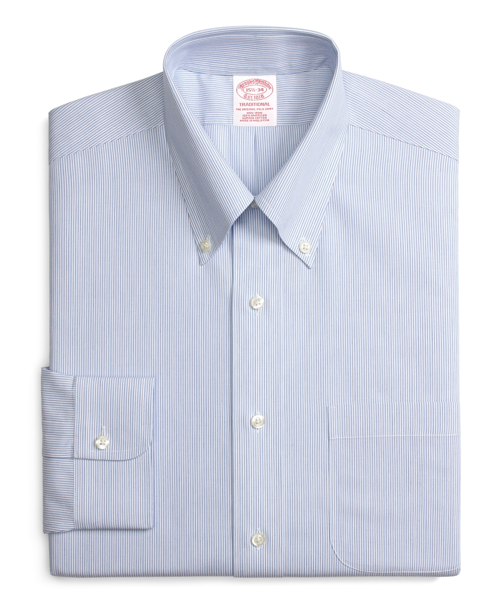 Brooks brothers non iron traditional fit split stripe for Brooks brothers non iron shirts review