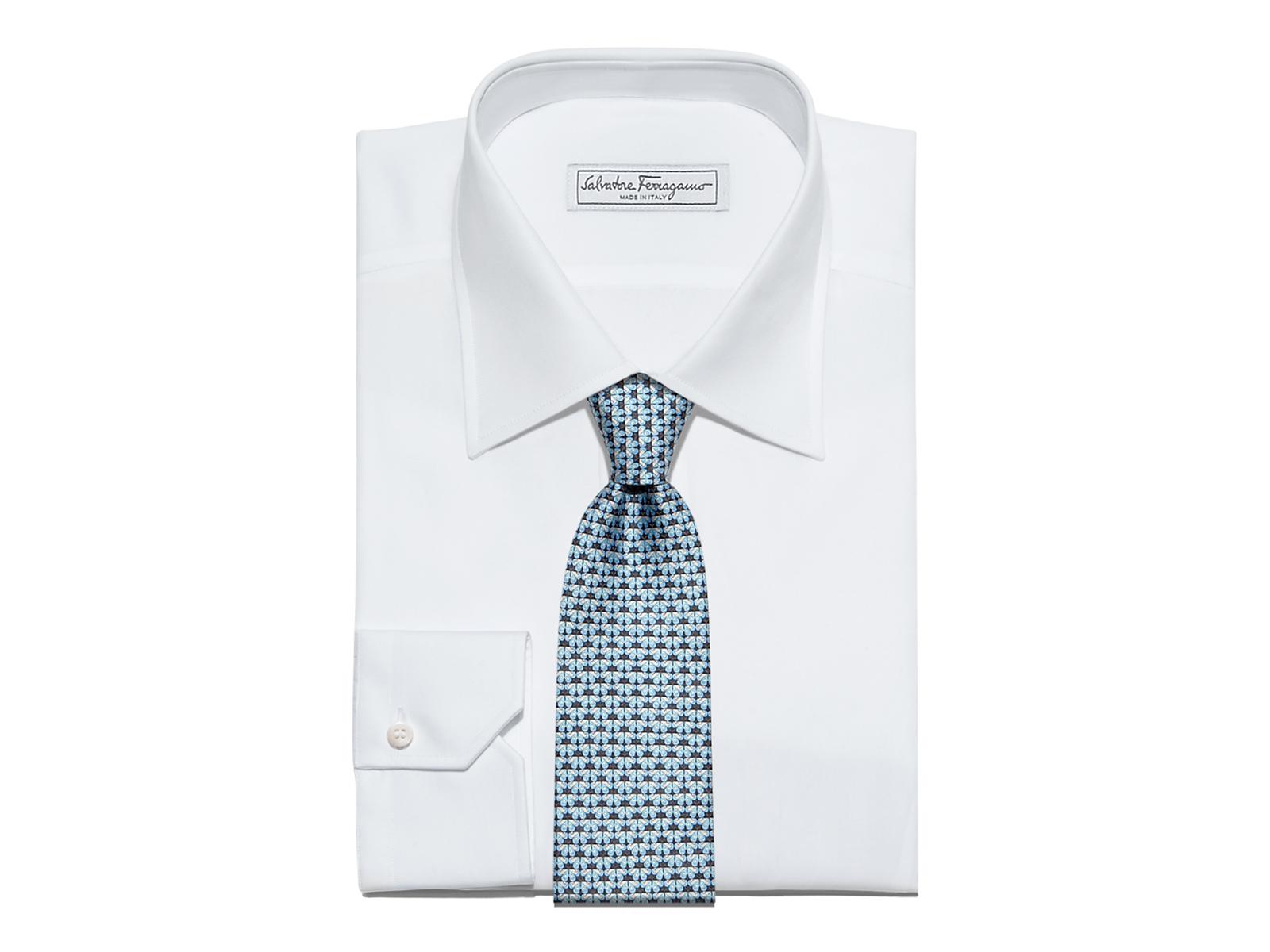 e6a07c9c9de1 Lyst - Ferragamo Geometric Butterfly Printed Tie in Gray for Men