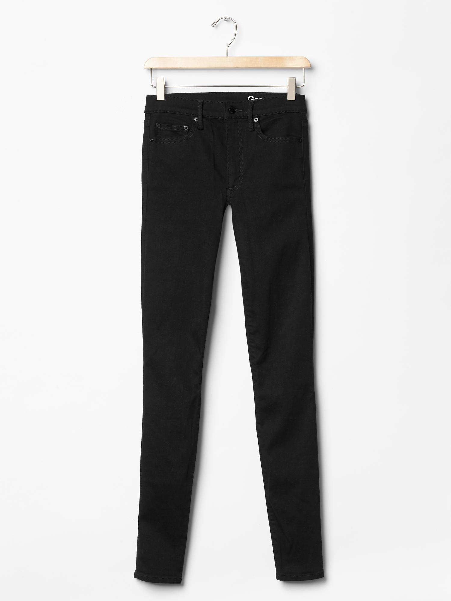 gap stretch 1969 true skinny high rise jeans in black