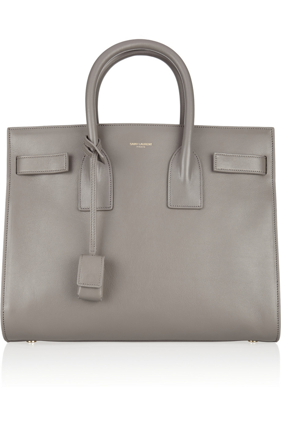 lyst saint laurent sac de jour small leather tote in gray. Black Bedroom Furniture Sets. Home Design Ideas
