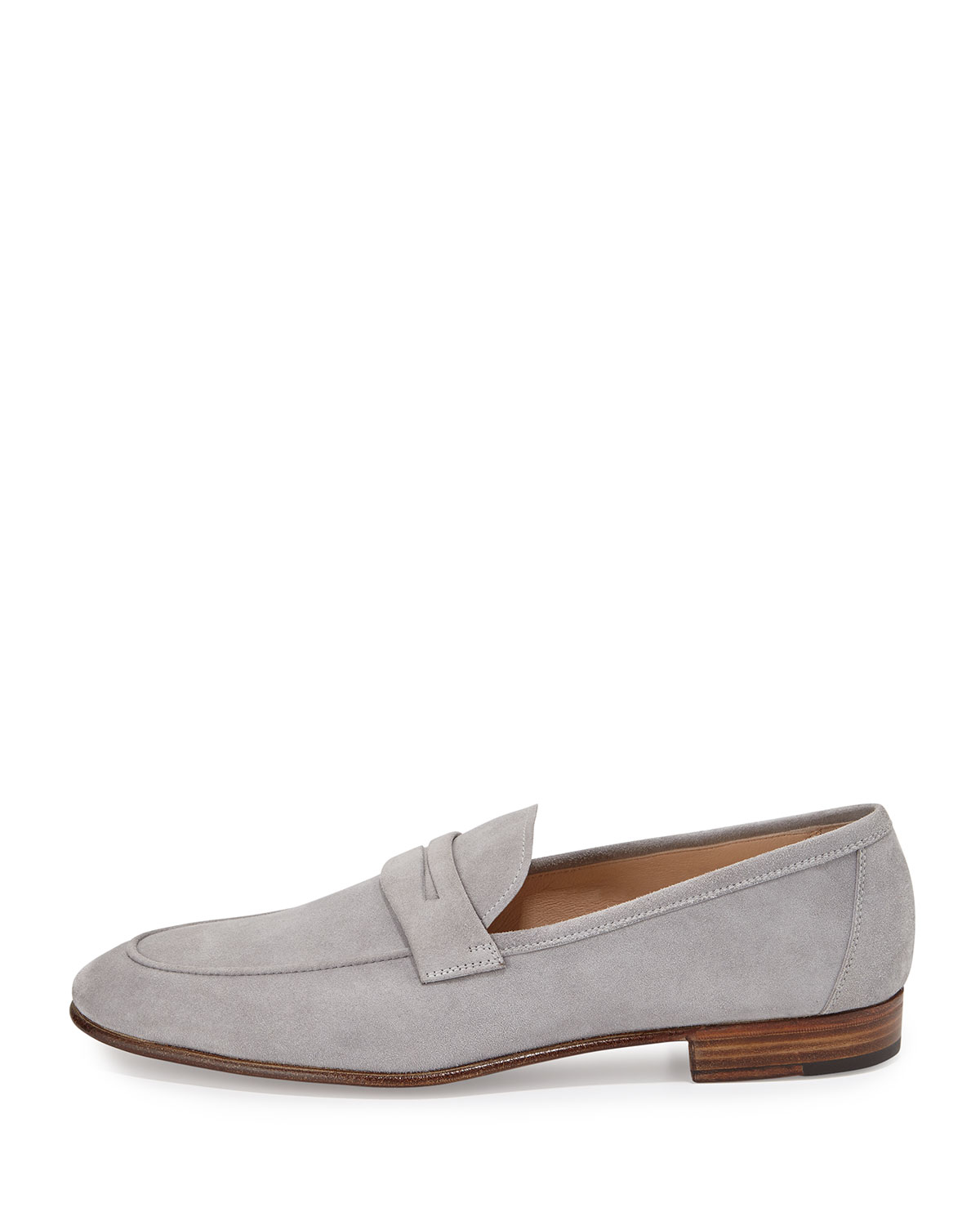 Lyst - Gravati Suede Penny Loafer in Gray for Men