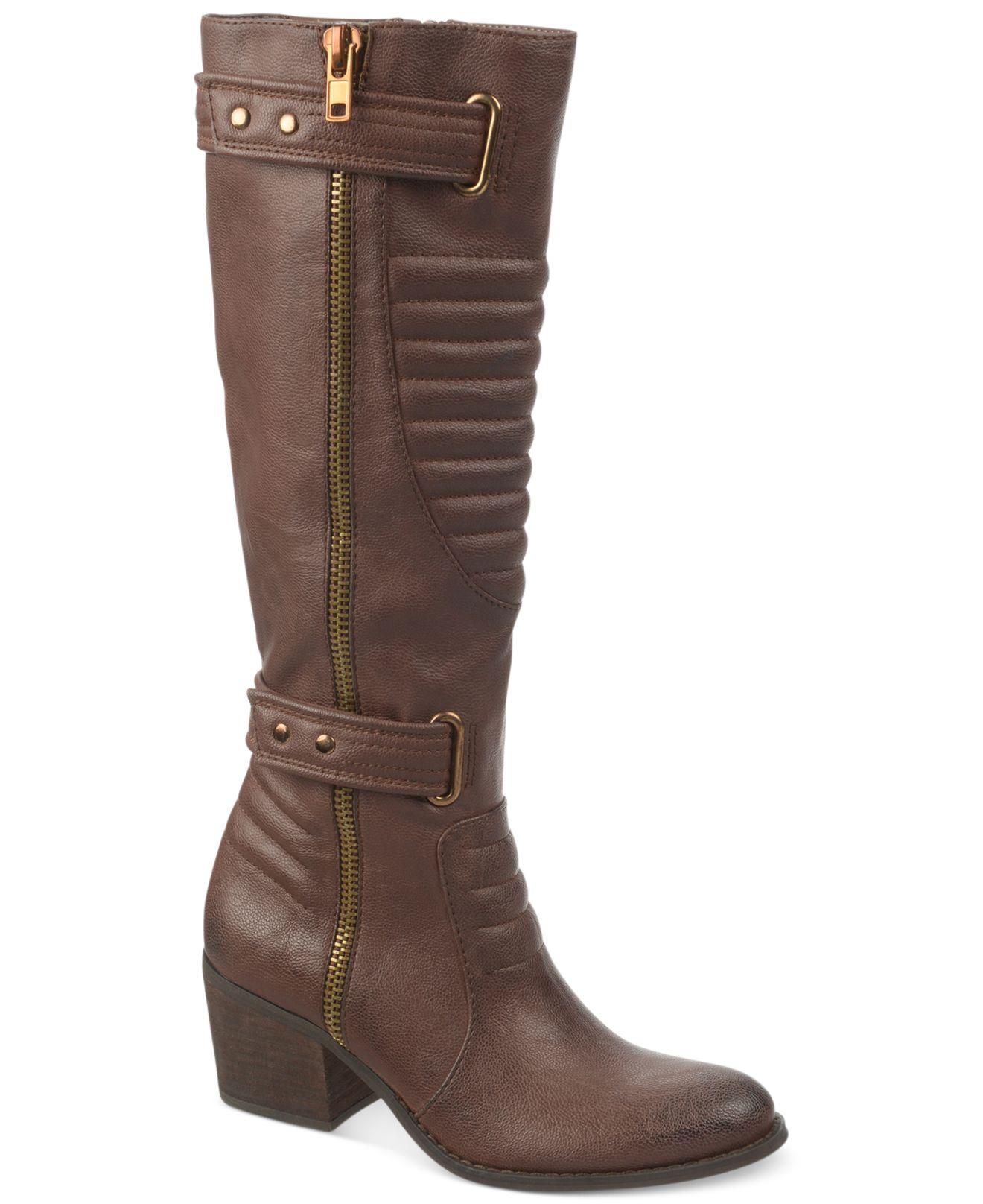 carlos by carlos santana vesta moto boots in brown lyst